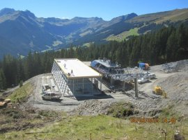 Errichtung Bergstation Rosswaldsesselbahn
